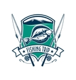 Fishing sport club emblem with fish icon vector image vector image