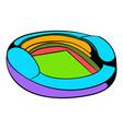 football soccer stadium icon icon cartoon vector image