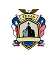 texas navy battleship flag icon vector image