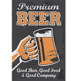 Vintage style Chalkboard beer sign vector image vector image