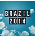 Brazil 2014 football poster Sky background and vector image