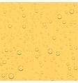 Transparent drop beer seamless background vector image