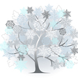 winter silhouette vector image