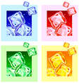 Colored ice cubes vector image