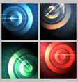 abstract technical background set vector image