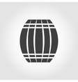black barrel icon on white background vector image