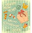 Christmas toys and gift Box vector image
