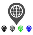 globe map marker flat icon vector image