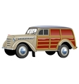 retro woody van vector image