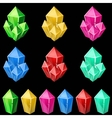 Set of colorful crystals vector image