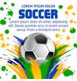 soccer ball poster for football sport tournament vector image