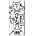 celtic Saint Luke vector image