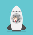 businessman in space rocket vector image