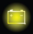 battery symbol vector image