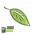 green leaf go green concept vector image vector image
