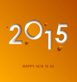 New Year abstract orange card vector image vector image