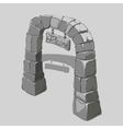 Ancient arch of grey blocks and welcome sign vector image