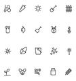 Agriculture Line Icons 2 vector image