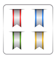 Silver colored banners set vector image