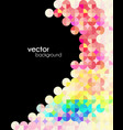 abstract mosaic modern flyer vector image