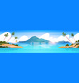 beautiful tropical beach landscape summer seaside vector image