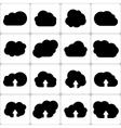 Cloud Shapes Set Icons vector image