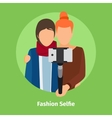 Fashion Selfie for photo mobile app vector image