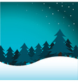pine trees vector image