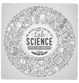 Set of Science cartoon doodle objects symbols and vector image