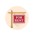 For rent Icon on the white background vector image