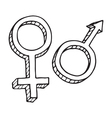 Male and female sex symbol vector image vector image