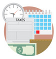 time pay tax icon vector image