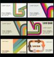 Business card Modern design vector image