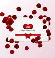 rose petals card vector image vector image