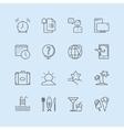 Summer logo icons set Sea travel or vector image