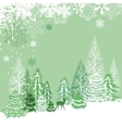 beautiful view of winter forest vector image