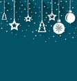 Xmas background with fir balls vector image