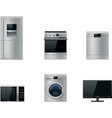 major appliances set vector image vector image