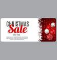 christmas sale discount voucher banner background vector image