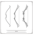 Fantasy Bow Lineart vector image
