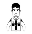 handsome happy police officer icon image vector image