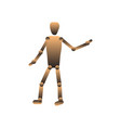 hinged doll puppet faceless figure vector image