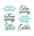 lettering brush calligraphy vector image