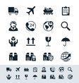 Logistics and shipping icon set simplicity theme vector image