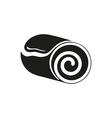 Roll cake icon Cake icon dessert icon vector image