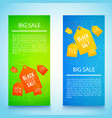 two black friday banner set vector image