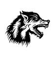 Wolf head emblem vector image