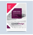 Cover design for annual report or brochure vector image