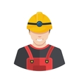 Smiling construction worker builder icon avatar vector image