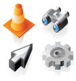 Isometric interface symbols vector image vector image